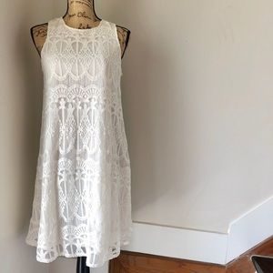 Sharagano White Lace Dress NWT Size 6